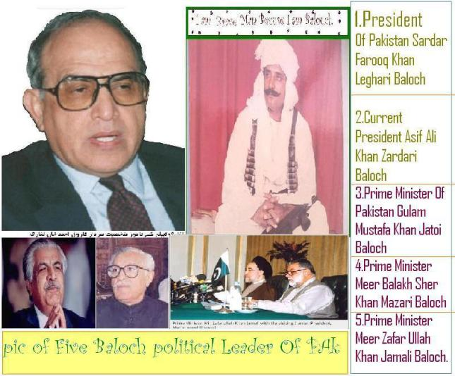 Baloch PMs and President Of Pakistan