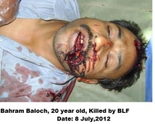 Bahram Baloch, Victim of BLF