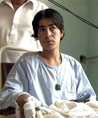Saddam Lehri, 14, lost a leg after a bomb he planted in the grounds of a small, private hospital in the city of Quetta went off earlier than he expected. The blast last month injured another 17 people