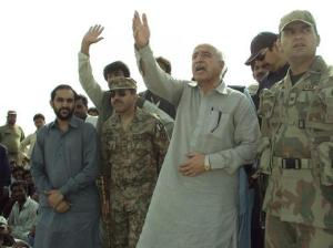 CM Balochistan himself supervising distribution of items in Awaran